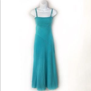 Debbie Katz South Beach S Turquoise Maxi Dress